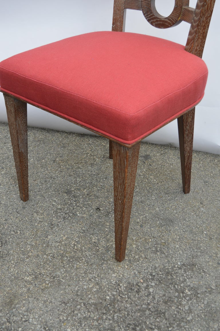 Set of Four Italian Oak Chairs For Sale 2