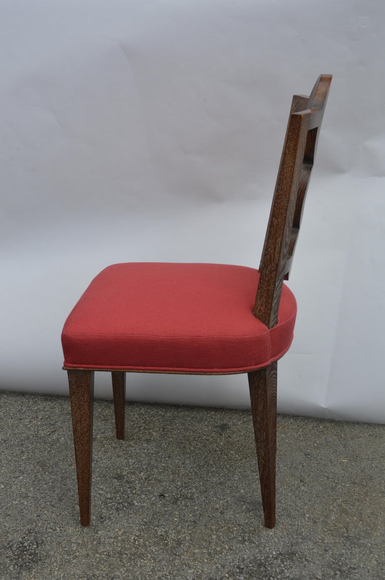 Set of Four Italian Oak Chairs For Sale 3