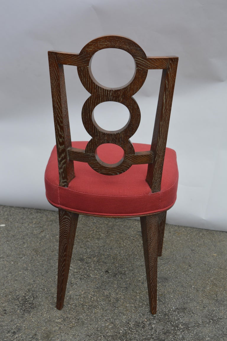 Set of Four Italian Oak Chairs For Sale 4