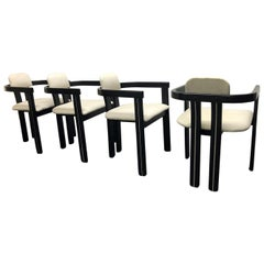 Set of Four Italian Sculptural Dining Chairs