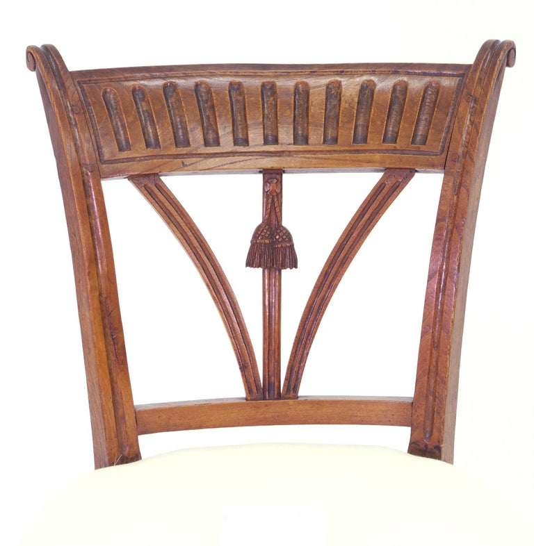 Set of Four Italian Side Chairs, circa 1800 For Sale 4