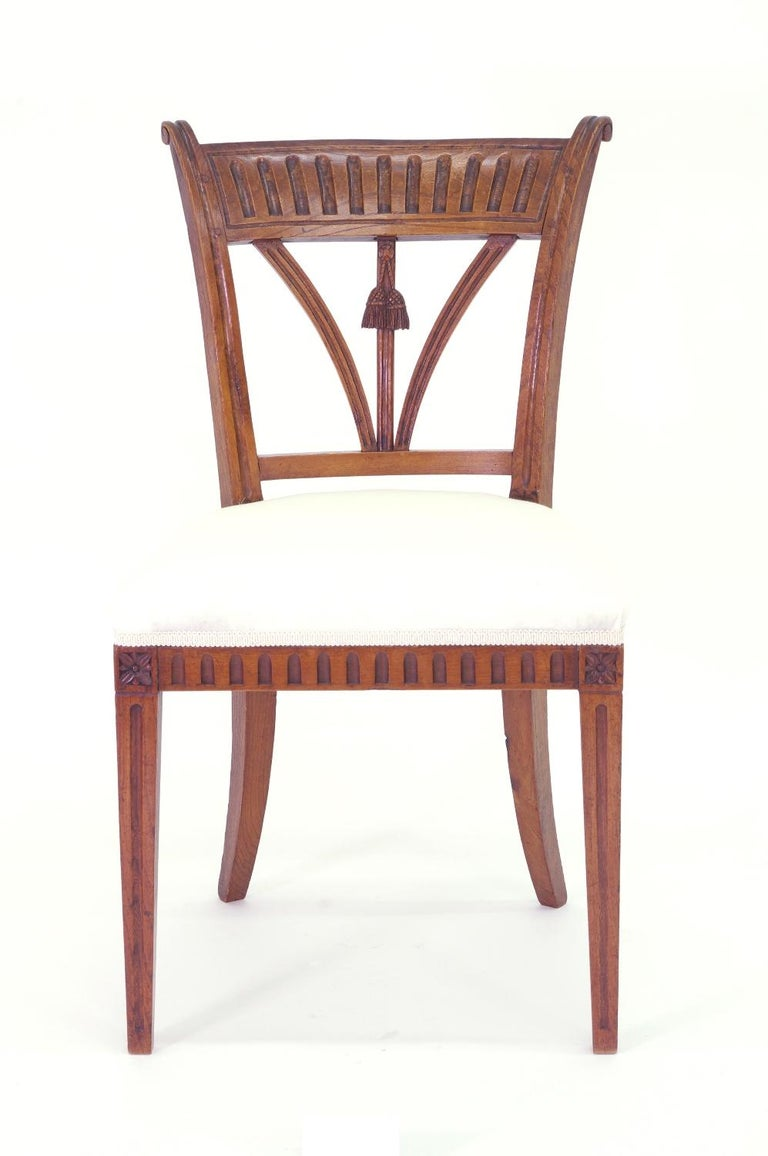19th Century Set of Four Italian Side Chairs, circa 1800 For Sale