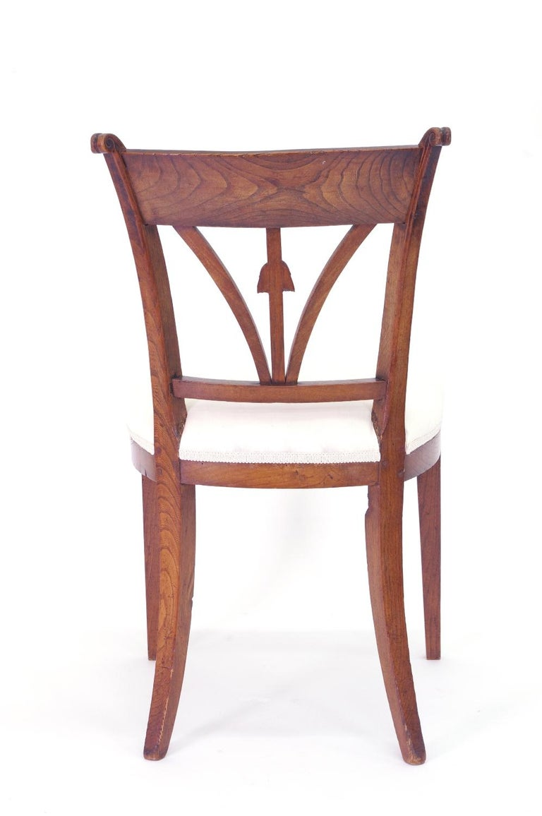 Set of Four Italian Side Chairs, circa 1800 For Sale 2
