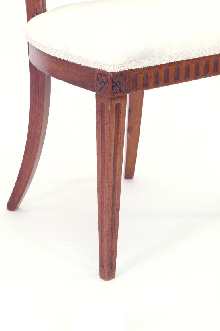 Set of Four Italian Side Chairs, circa 1800 For Sale 3