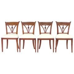 Set aus vier italienischen Beistellstühlen, um 1800