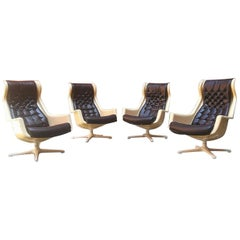 Swedes mid-century modern space age armchairs Galaxy Alf Svensonn for Dux, 1968
