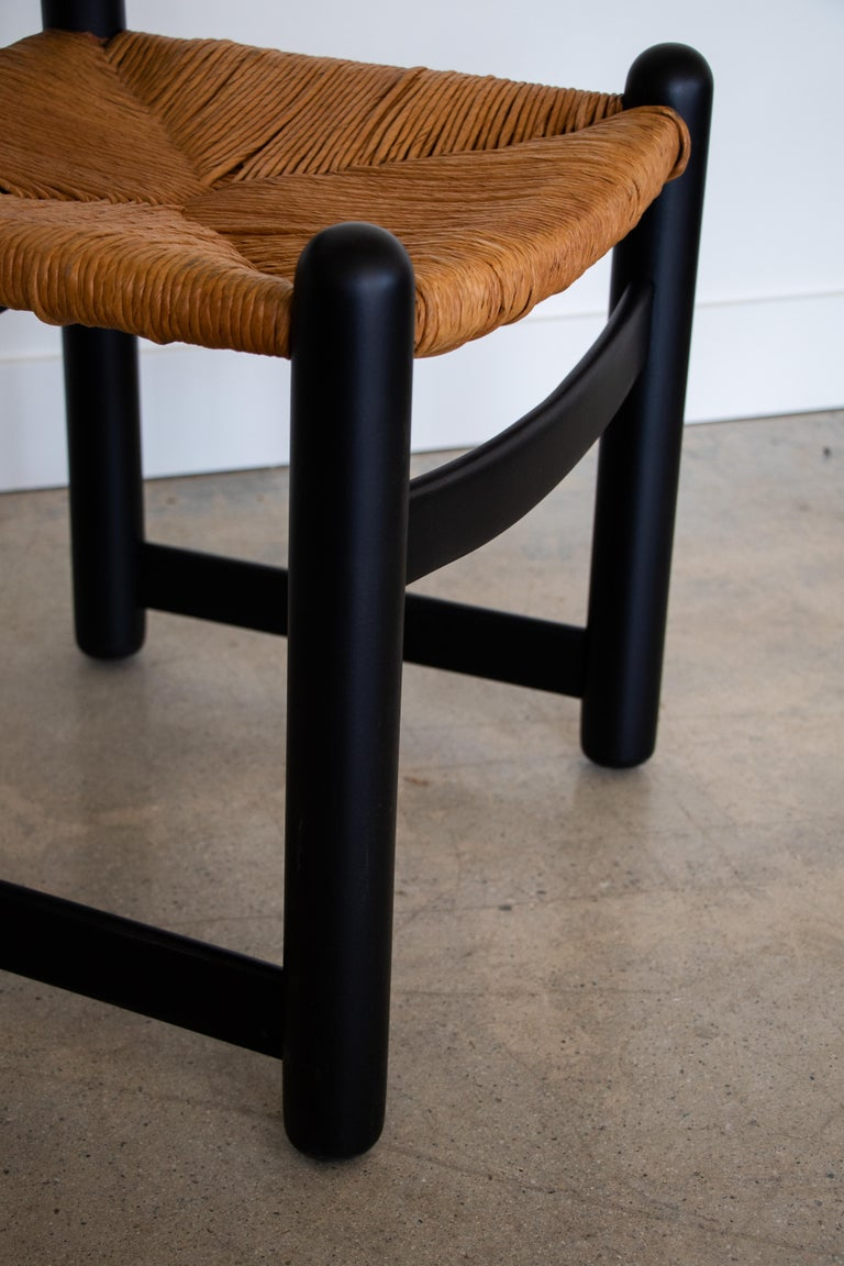 20th Century Set of Four Italian Wood and Rope Dining Chairs For Sale