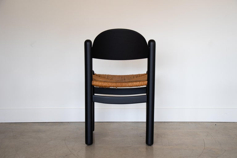 Set of Four Italian Wood and Rope Dining Chairs For Sale 4