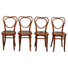 Set of Four J & J. Khon Chairs, circa 1900
