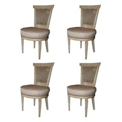 Set of Four Jansen Louis XVI Style Chairs