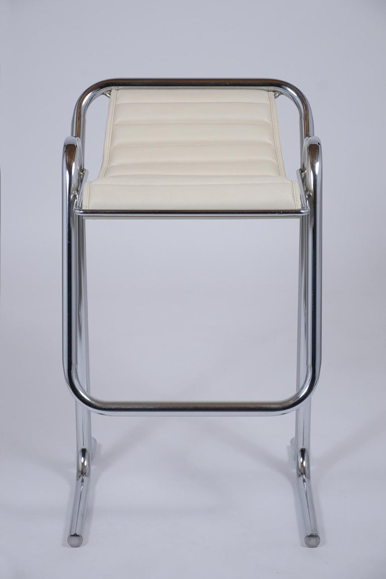 American Set of Jerry Johnson Chrome Bar Stools For Sale