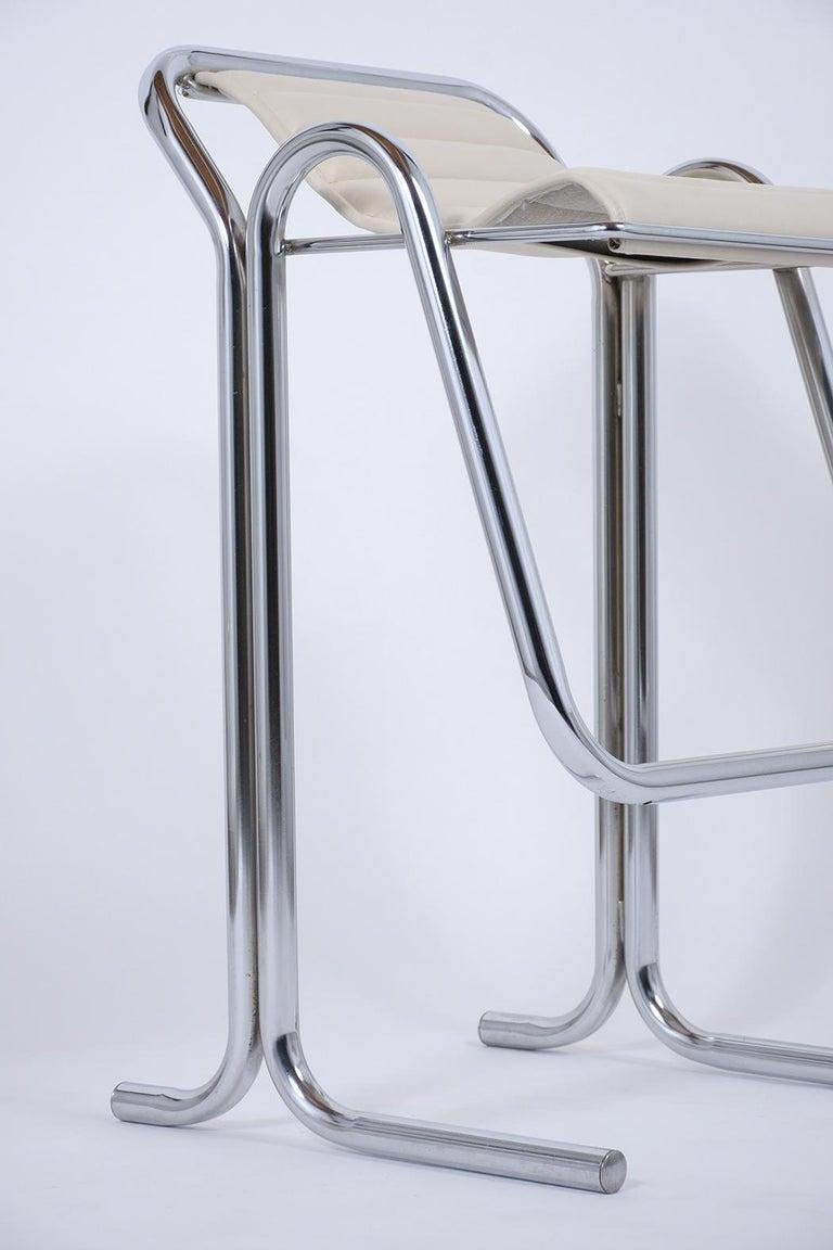 Set of Jerry Johnson Chrome Bar Stools For Sale 1