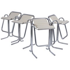 Set of Jerry Johnson Chrome Bar Stools