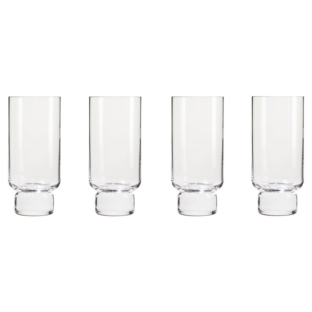 Set of Four Joe Colombo 'Clessidra' Glass Vases by Karakter