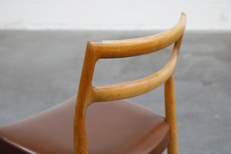 Set of Four Johannes Andersen for Uldum Møbelfabrik Danish Modern Dining Chairs For Sale 10