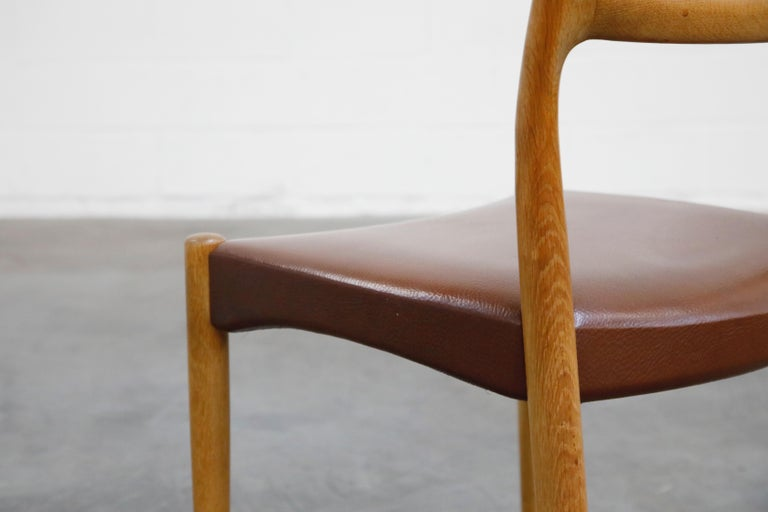 Set of Four Johannes Andersen for Uldum Møbelfabrik Danish Modern Dining Chairs For Sale 12