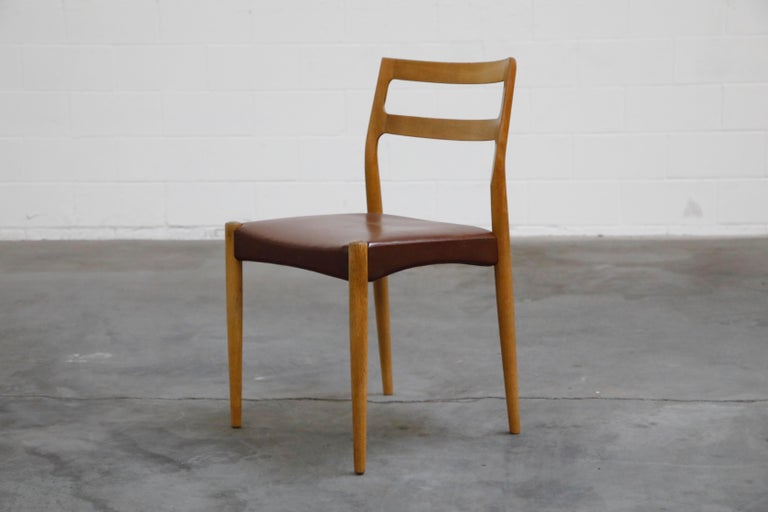 Late 20th Century Set of Four Johannes Andersen for Uldum Møbelfabrik Danish Modern Dining Chairs For Sale