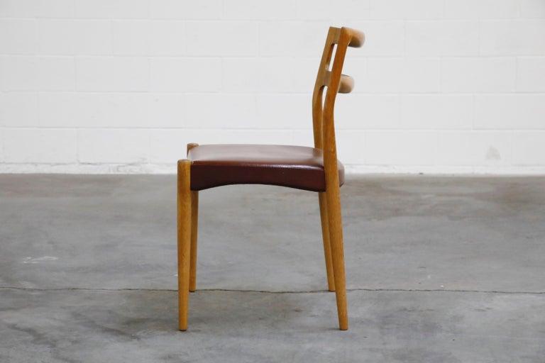 Teak Set of Four Johannes Andersen for Uldum Møbelfabrik Danish Modern Dining Chairs For Sale