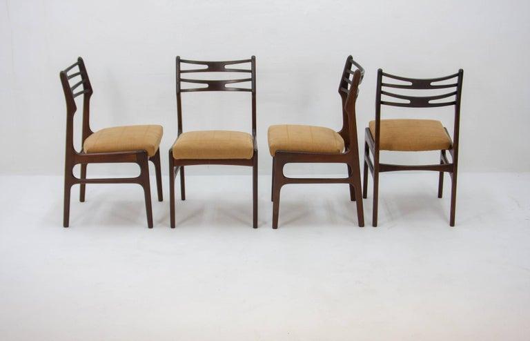 Danish Set of Four Johannes Andersen Model 101 Teak Dining Chairs, 1950s For Sale