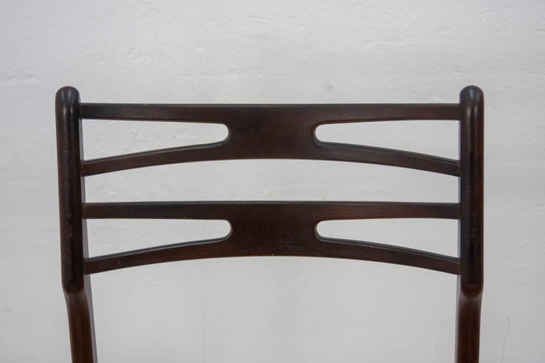 Mid-20th Century Set of Four Johannes Andersen Model 101 Teak Dining Chairs, 1950s For Sale