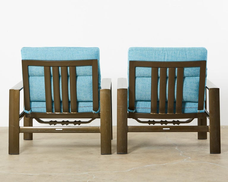 Set of Four John Caldwell Patio Rocking Lounge Chairs 12