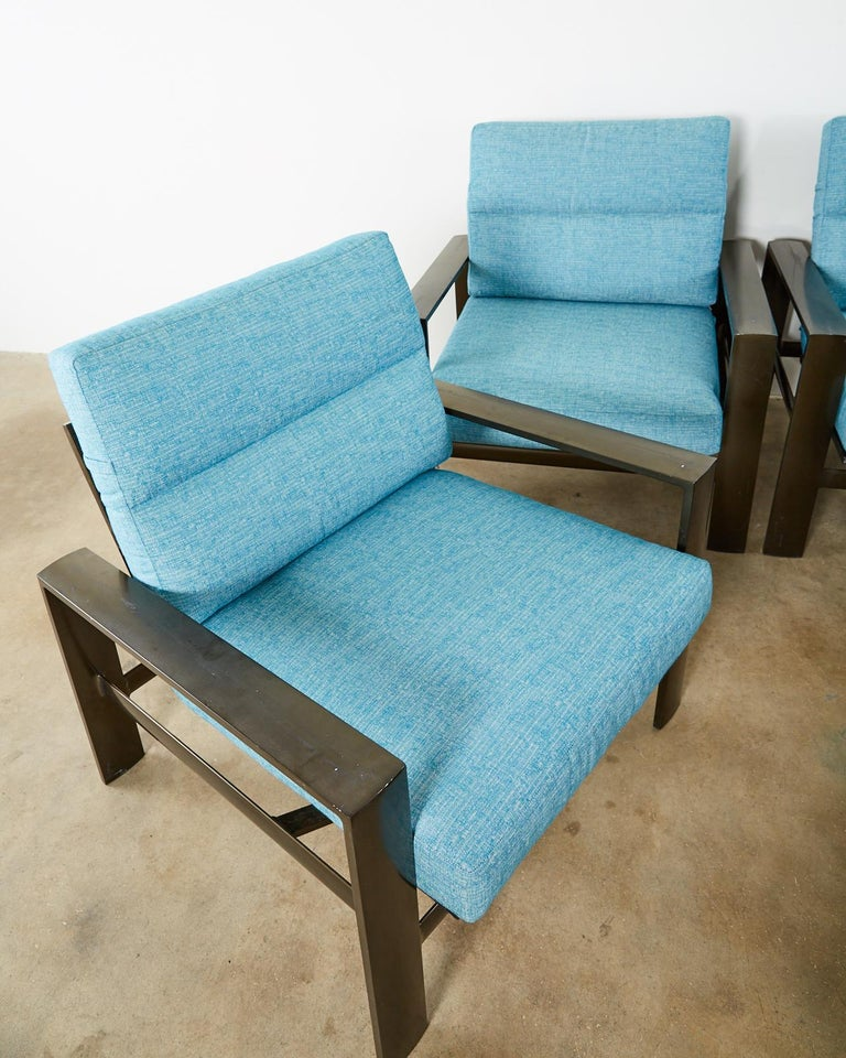 Contemporary Set of Four John Caldwell Patio Rocking Lounge Chairs