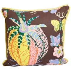 """Set of Four Josef Frank Cushions in the """"Hawaii"""" Pattern"""