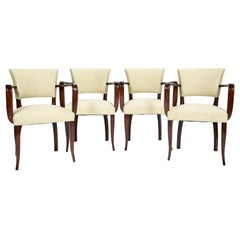 Set of Four Jules Leleu Style Armchairs