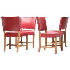 Set of Four Kaare Klint Red Chairs, Rud, Rasmussen, 1933