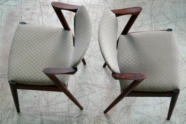 Set of Four Kai Kristiansen Model 42 Rosewood Dining Chairs for Schou Andersen 4