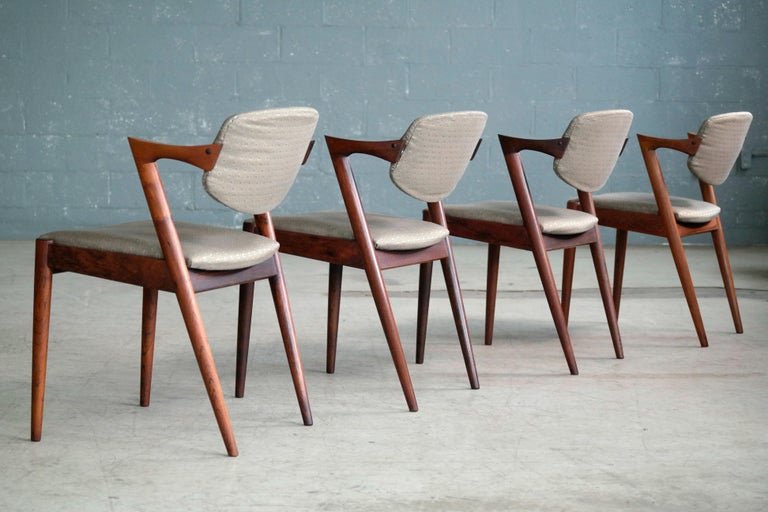 Set of four model #42 dining chairs also known as the
