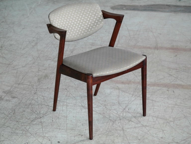 Danish Set of Four Kai Kristiansen Model 42 Rosewood Dining Chairs for Schou Andersen