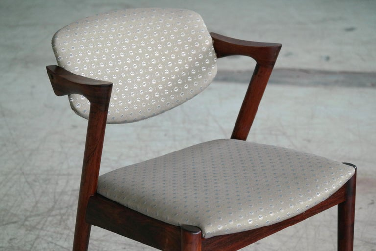Set of Four Kai Kristiansen Model 42 Rosewood Dining Chairs for Schou Andersen In Good Condition In Bridgeport, CT