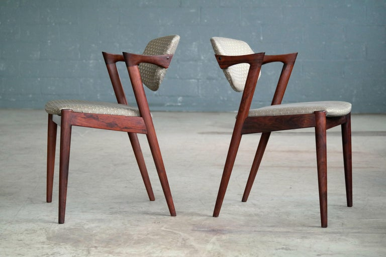 Set of Four Kai Kristiansen Model 42 Rosewood Dining Chairs for Schou Andersen 2