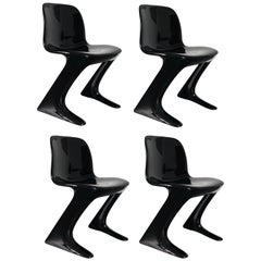 Set of Four Kangaroo Chairs Designed by Ernst Moeckl, Germany, 1968
