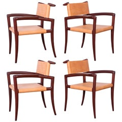 Set of Four Klismos Chairs by Charles Allen