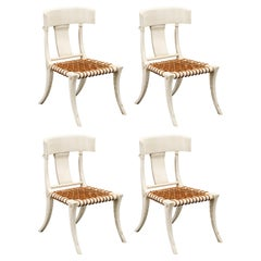 Set of Four Klismos Chairs in the Style of T.H. Robsjohn Gibbings