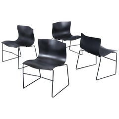 Set of Four Knoll Handkerchief Chairs