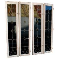 Set of Four Large 1920s Windows