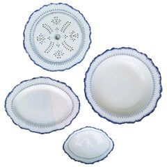 Set of Four Late 18th Century Wedgwood Pearlware, Mared Pattern, Marks
