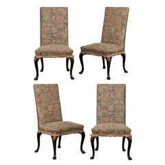 Set of Four Late 19th-Early 20th Century Georgian Style Side Dining Chairs