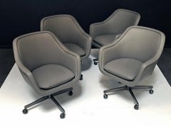 Set of Four Leather Office Chairs