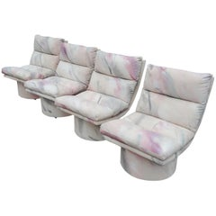Set of Four Leon Rosen Pace High Base Swivel Chairs