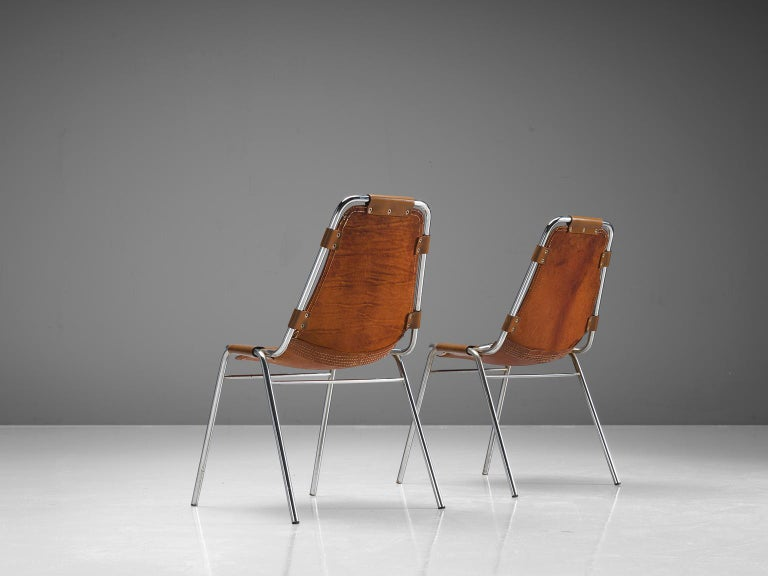 Late 20th Century Set of Four Les Arcs Chairs Selected by Charlotte Perriand  For Sale