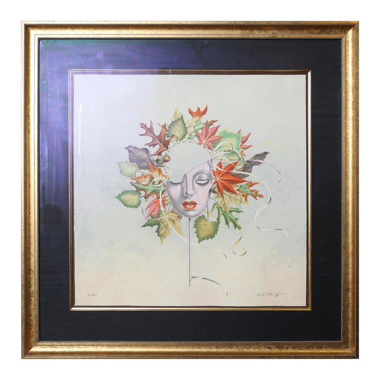 Set of four limited edition lithographs of the four seasons by Mark Van Epps. All signed AP 5/25.