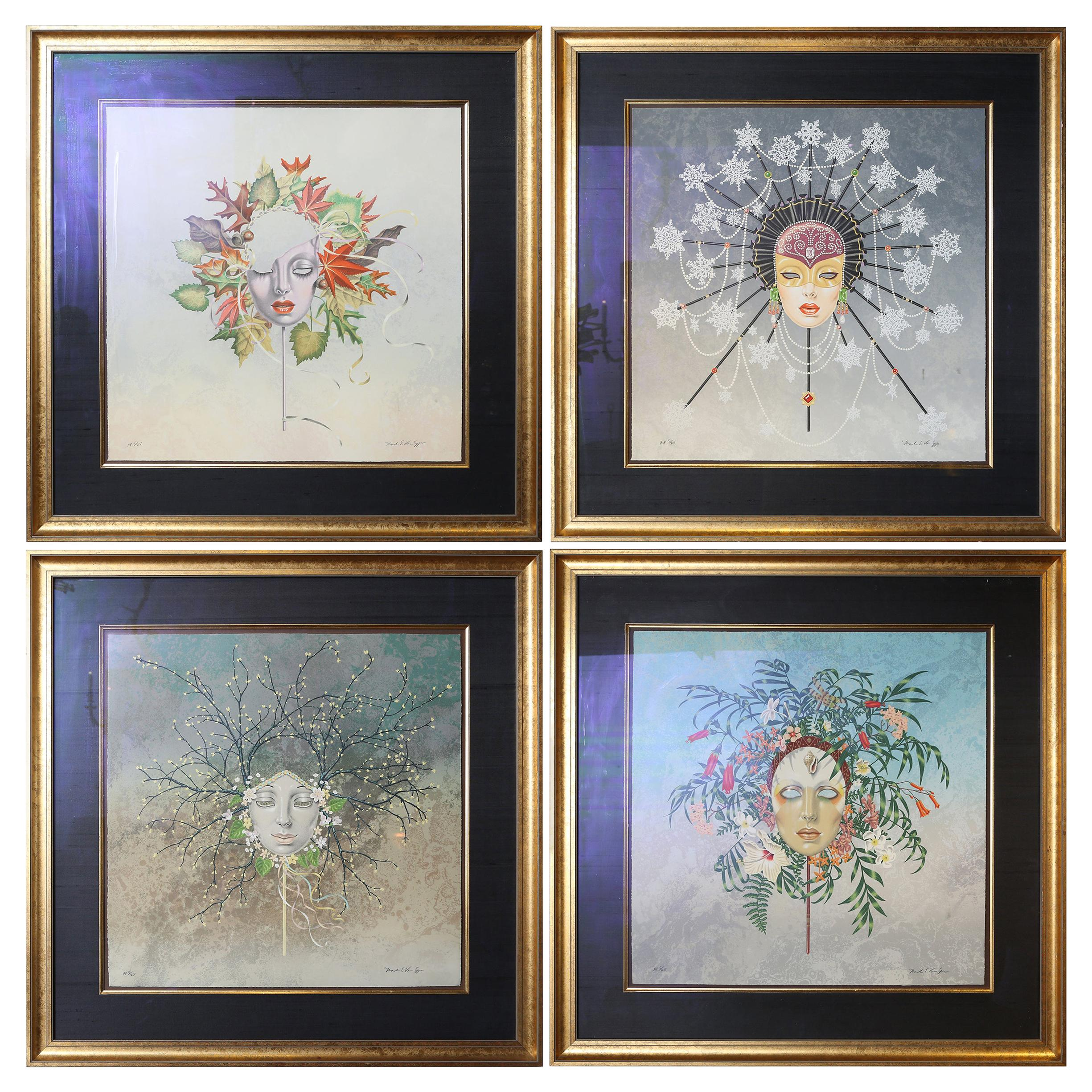Set of Four Limited Edition Lithographs by Mark Van Epps