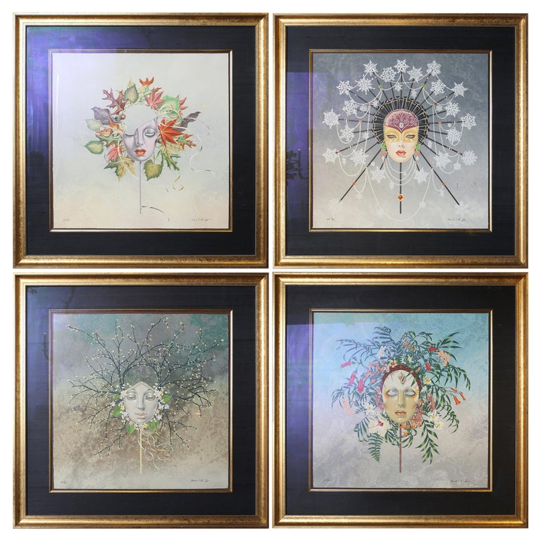 Set of Four Limited Edition Lithographs by Mark Van Epps For Sale