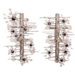 Set of Four Lobmeyr 'Sputnik' Cylinder Sconces