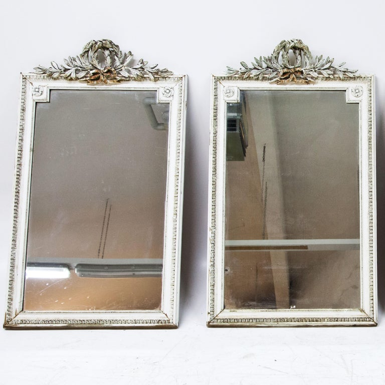 Louis XVI Set of Four Louis Seize Style Wall Mirrors, Probably, France, 19th Century For Sale