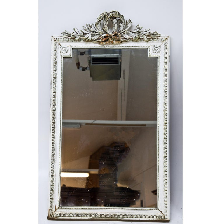 Painted Set of Four Louis Seize Style Wall Mirrors, Probably, France, 19th Century For Sale